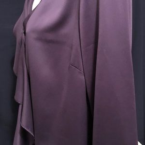 Tops - 🌸Coldwater Creek Ruffled Front Blouse Deep Purple